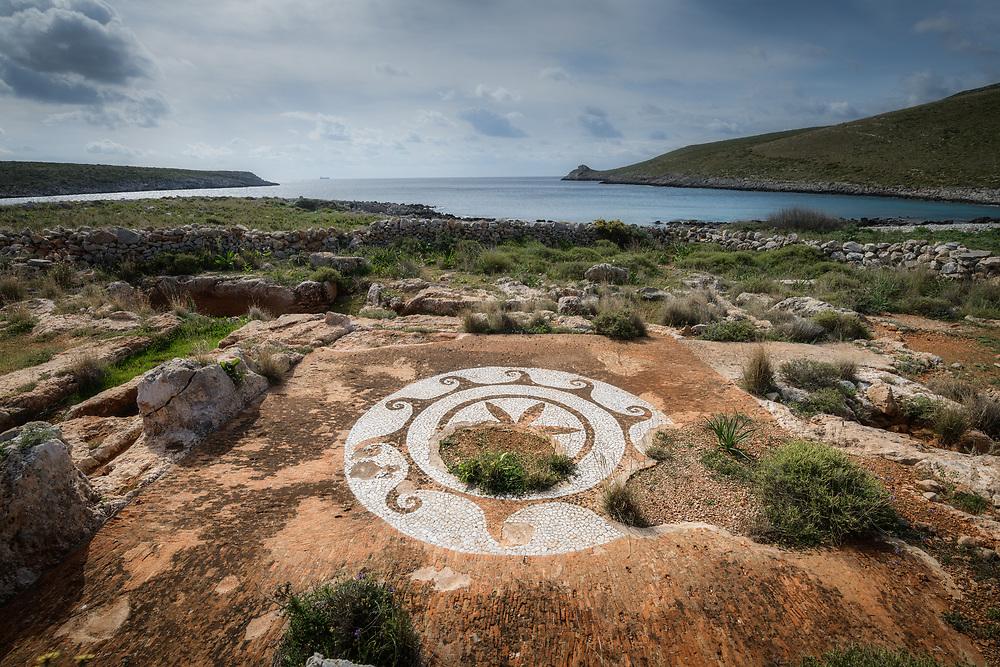 Ruins at Cape Matapan, the southern tip of Mani peninsula, Greece