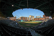 A general overall view of the Durham Bulls Athletic Park during the MiLB International Championship baseball game, Thursday, September 12, 2019, in Durham, N.C. The Columbus Clippers beat the Durham Bulls 6-2 to complete a three-game sweep of the two-time defending champion. (Brian Villanueva/Image of Sport)