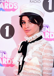 Camila Cabello attending BBC Radio 1's Teen Awards, at the SSE Arena, Wembley, London.
