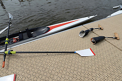 © Licensed to London News Pictures. 27/06/2012. Henley-on-Thames, UK A pair of prosthetic limbs on the quay side. Great Britain's rowing team for the London 2012 Paralympics was announced during Wednesday's lunch interval and the four crews rowed down the Henley course through the enclosures. Henley Royal Regatta on June 26, 2012 in Henley-on-Thames, England. The 172-year-old rowing regatta is held 27th June- 1st July 2012. Photo credit : Stephen Simpson/LNP