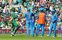 Cricket - 2017 ICC Champions Trophy - Final: Pakistan vs. India<br /> <br /> Fakhar Zaman of Pakistan returns to his wicket after originally being caught out, but the Umpire called a no ball at the Kia Oval.<br /> He went on to score a Century.<br /> <br /> COLORSPORT/ANDREW COWIE