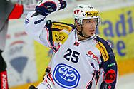 24.03.2011, Rapperswil-Jona, Eishockey NLA Playout, Rapperswil-Jona Lakers - HC Ambri-Piotta, Trevor Meier (AMB) jubelt  (Thomas Oswald/hockeypics)