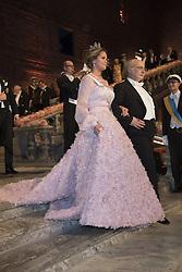 Prinzessin  Madeleine, F. Duncan M. Haldane <br /> <br />  <br /> <br />  beim Nobelbankett 2016 im Rathaus in Stockholm / 101216 <br /> <br /> <br /> <br /> ***The Nobel banquet, Stockholm City Hall, December 10th, 2016***