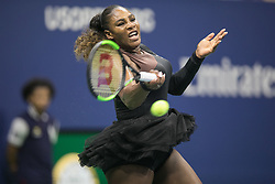 August 27, 2018 - Flushing Meadows, New York, U.S - SERENA WILLIAMS during her match against Magda Linette on Day 1 of the 2018 US Open at USTA Billie Jean King National Tennis Center on August 27, 2018 in the Flushing neighborhood of the Queens borough of New York. S Williams defeats Linette, 6-4, 6-0. (Credit Image: © Javier Rojas/Prensa Internacional via ZUMA Wire)
