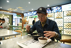 November 1, 2018 - Nanjing, Nanjing, China - Nanjing, CHINA-The first unmanned restaurant opens in Nanjing, east China's Jiangsu Province. People can order food through a cell phone application and get the food by themselves. (Credit Image: © SIPA Asia via ZUMA Wire)