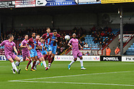 Scunthorpe United forward Lee Novak (17)  scores goal to go 1-0 during the EFL Sky Bet League 1 match between Scunthorpe United and Rochdale at Glanford Park, Scunthorpe, England on 8 September 2018. Photo Ian Lyall