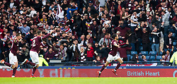 Heart of Midlothian's Ryan Edwards celebrates scoring his side's first goal of the game during the William Hill Scottish Cup Final at Hampden Park, Glasgow.