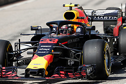 October 21, 2018 - Austin, TX, U.S. - AUSTIN, TX - OCTOBER 21: Red Bull Racing driver Max Verstappen (33) of Netherlands waits to drive onto COTA track prior to the F1 United States Grand Prix on October 21, 2018, at Circuit of the Americas in Austin, TX. (Photo by John Crouch/Icon Sportswire) (Credit Image: © John Crouch/Icon SMI via ZUMA Press)