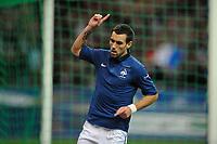 FOOTBALL - UEFA EURO 2012 - QUALIFYING - GROUP D - FRANCE v ALBANIA - 7/10/2011 - PHOTO GUY JEFFROY / DPPI - JOY ANTHONY REVEILLERE (FRA)