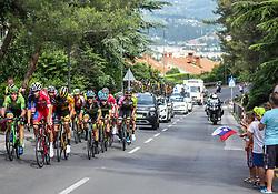 Peloton during Slovenian National Road Cycling Championships 2021, on June 20, 2021 in Koper / Capodistria, Slovenia. Photo by Vid Ponikvar / Sportida