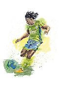 Obafemi Martins, from Nigeria, forward for The Seattle Sounders.<br /> <br /> Gabriel Campanario / The Seattle Times