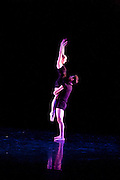 Students of Dance Wisconsin are seen at their dress rehearsal of New Works at Mitby Theater at Madison College in Madison, Wisconsin on October 7, 2011.