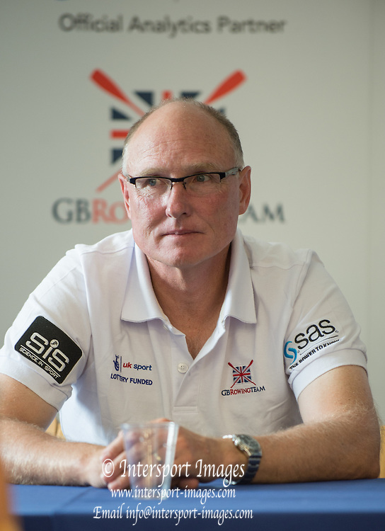 Caversham, England, Top Table at the PC. Paul THOMPSON, GBR Chief Coach Womens Squard and Men's Lights weights2015 GBRowing World Championship Team Announcement. Tuesday. 21.07.2015.  At the Reading Training Base. [Mandatory Credit. Peter SPURRIER/Intersport Images]