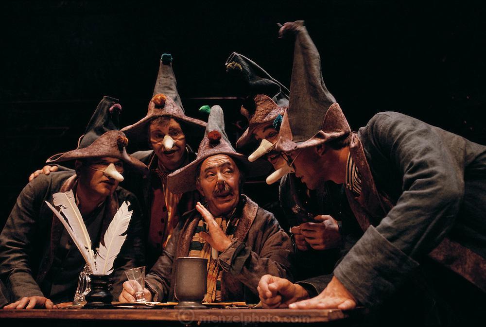 Copenhagen, Denmark. Actors at a dress rehearsal at Det Kongelige Teater den Politiske Kandestober: Comedie.