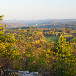 The view south from Black Mountain in Dummerston Vermont USA