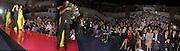 Julian Macdonald and Naomi Campbell. Watched by Petrina Khashogi, Martine MCCutcheon, Joely Richardson and Saffron Aldridge amongst others. Julian Macdonald  fashion show, Le Meridien Grosvenor House. After party, Il Bottaccio, Grosvenor Place. London. 14 September 2002. © Copyright Photograph by Dafydd Jones 66 Stockwell Park Rd. London SW9 0DA Tel 020 7733 0108 www.dafjones.com