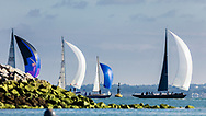 The fleet competing on the Solent off the Isle of Wight during the Panerai British Classic Week, the premier classic yacht regatta in the UK which is now in it's 16th year. <br /> Picture date Monday 10th July, 2017.<br /> Picture by Christopher Ison. Contact +447544 044177 chris@christopherison.com
