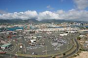 Sand Island, freight terminal, Honolulu, Oahu, Hawaii<br />