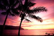 Sunset, Hanalei, Kauai, Hawaii, USA<br />
