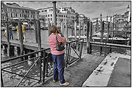 Day Tripper - Venice -  is a selective colour street photography series of tourists visiting Venice  by photographer Paul Williams taken on 26th September 2007. .<br /> <br /> Visit our REPORTAGE & STREET PEOPLE PHOTO ART PRINT COLLECTIONS for more wall art photos to browse https://funkystock.photoshelter.com/gallery-collection/People-Photo-art-Prints-by-Photographer-Paul-Williams/C0000g1LA1LacMD8
