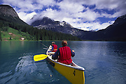 Canoeing, Emerald Lake, British Columbia, Canada<br />