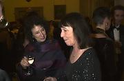 Margaret Atwood and Beryl Bainbridge. The Booker prize 2000. Guildhall, London EC2. 7 November 2000. © Copyright Photograph by Dafydd Jones 66 Stockwell Park Rd. London SW9 0DA Tel 020 7733 0108 www.dafjones.com