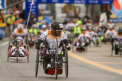 ING New York CIty Marathon: hand-crank wheelchair athletes start race
