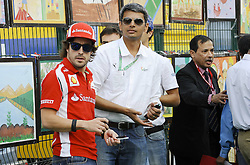 28.10.2011, Jaypee-Circuit, Noida, IND, F1, Grosser Preis von Indien, Noida, im Bild Fernando Alonso (ESP),  Scuderia Ferrari // during the Formula One Championships 2011 Large price of India held at the Jaypee-Circui 2011-10-28  EXPA Pictures © 2011, PhotoCredit: EXPA/ nph/  Dieter Mathis        ****** only for AUT, SLO,POL ******
