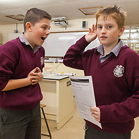 Aaron McGannon and Michael Rynne from Meánscoil Na Mbráithre, Ennistymon, The aim of the  project is to find out what most people laugh at and the difference between adults and teenagers.