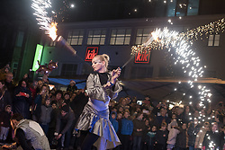 A fiery dance with the Queen of Light and her companions during the prizig praznicnih luck - The switch on the festive lights, on November 29, 2019 in Maribor, Slovenia. Photo by Milos Vujinovic / Sportida