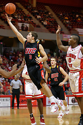 20 December 2008: Robo Kreps scoops up a shot during a game where the  Illinois State University Redbirds go to 11-0 on the season defeating the Flames of Illinois Chicago by a score of 67-60 on Doug Collins Court inside Redbird Arena on the campus of Illinois State University in Normal Illinois.