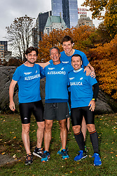 03-11-2018 USA: NYC Marathon We Run 2 Change Diabetes day 2, New York<br /> day before the marathon the usual photo shoot in Central Park / Alessandro, Alessandro, Gianluca, Bas