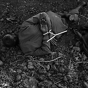 Jun 28, 2009 - Kandahar, Afghanistan - A bound suspected insurgent seen at the feet of a Canadian soldier after he was captured during three days of fighting in the insurgent stronghold of Siah Choy in Zhari District, Kandahar Province, Afghanistan. .(Credit Image: © Louie Palu/ZUMA Press)
