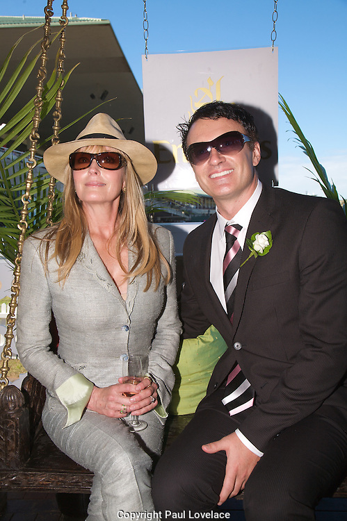 David Jones Australian Derby Day 2010 , Sydney-Australia.Paul Lovelace Photography.Bo Derek  & Julian Mc Mahon.[Total 69 Images].[Non Exclusive] . An instant sale option is available where a price can be agreed on image useage size. Please contact me if this option is preferred.
