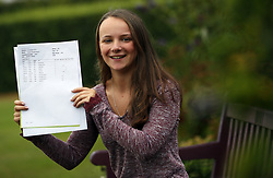 August 17, 2017 - London, LONDON, ENGLAND - LONDON, UK. .FORMER VOICE OF PEPPA PIG RECEIVES A LEVEL RESULTS. Lady Eleanor Holles student Cecily Bloom, receives 3 A*'s in her A level results today and is going onto Cardiff University to study Medicine. Cecily is the former voice of children's television cartoon character Peppa Pig. (Credit Image: © Lnp/London News Pictures via ZUMA Wire)