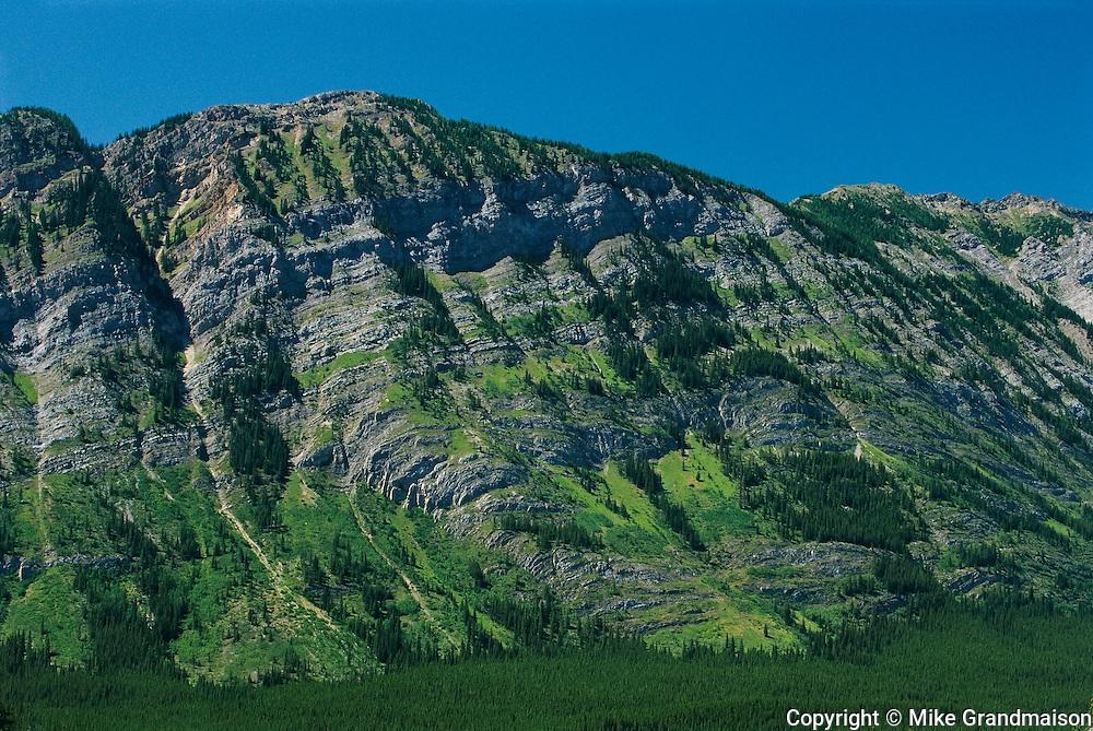 Limestone layers in Kananaskis Country<br /> Kananaskis Country<br /> Alberta<br /> Canada