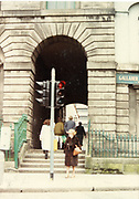 Old amateur photos of Dublin streets churches, cars, lanes, roads, shops schools, hospitals, Streetscape views are hard to come by while the quality is not always the best in this collection they do capture Dublin streets not often available and have seen a lot of change since photos were taken Merchants Arch halfpenny bridge, Cumberland St Clothes Market Temple Bar April 1983