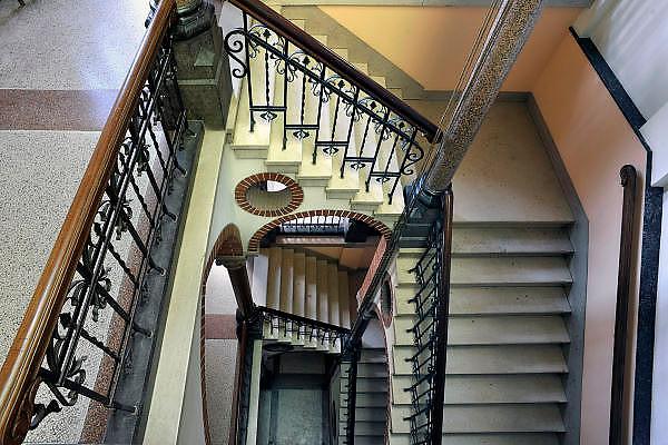 Nederland, Ubbergen, 8-8-2012Het monumentale trappenhuis van woon en werkgemeenschap de Refter, een voormalig klooster met meisjesinternaat.Foto: Flip Franssen/Hollandse Hoogte