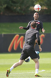 09.08.2010. Arsenal Training Ground, London, ENG, Nationalteam England Training, im Bild Ashley Cole laughs as he trains with Gareth Barry, EXPA Pictures © 2010, PhotoCredit: EXPA/ IPS/ Mark Atkins *** ATTENTION *** UK ..AND FRANCE OUT! / SPORTIDA PHOTO AGENCY