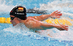 July 26, 2017 - Budapest, Hungary - Spain's Mireia Belmonte competes in a women's 200m butterfly semi-final during the swimming competition at the 2017 FINA World Championships in Budapest, on July 26, 2017. (Credit Image: © Foto Olimpik/NurPhoto via ZUMA Press)
