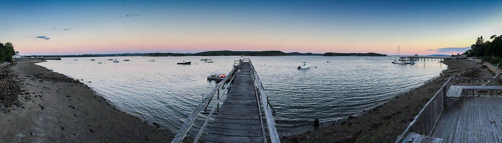 Dusk from Doc's Dock, Castine, Maine, US