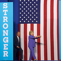 Scranton, PA - AUGUST 15:  Democratic Presidential candidate Hillary Clinton holds a rally with Vice President Joe Biden at Riverfront Sports athletic facility on August 15, 2016 in Scranton, Pennsylvania.  (Photo by Mark Makela/Getty Images)