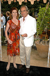 Actress JANE ASHER and her husband MR GERALD SCARFE at the Tatler Summer Party in association with Moschino at Home House, 20 Portman Square, London W1 on 29th June 2005.<br /><br />NON EXCLUSIVE - WORLD RIGHTS