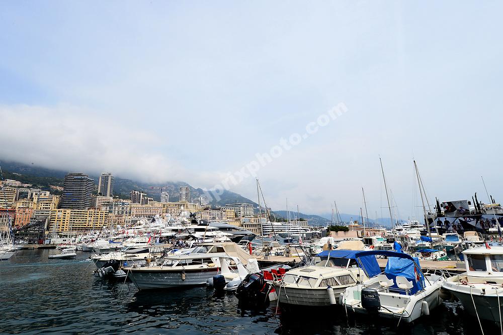 Scenic shot of Monaco habour before the 2019 Monaco Grand Prix. Photo: Grand Prix Photo