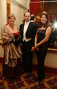 Chairman of the Committee, Prince and Princess Dmitri Lobanov-Rostovsky and  Mrs. Michael Cripps Director of the charity. The St. Petersburg Ball, In aid of the Children's Fire and Burn Trust-Russia 2005.  The Cafe Royal. 3 February 2006. -DO NOT ARCHIVE-© Copyright Photograph by Dafydd Jones 66 Stockwell Park Rd. London SW9 0DA Tel 020 7733 0108 www.dafjones.com