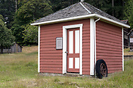 """""""The Milkhouse"""" was constructed on the Henry Ruckle farmstead around 1911. Photographed in Ruckle Provincial Park on Saltspring Island, British Columbia, Canada."""