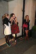 Nathalie Burgun and Sophia Rugge , Tatler's Little Black Book party. Tramp. Jermyn St.  London. 7 November 2007. -DO NOT ARCHIVE-© Copyright Photograph by Dafydd Jones. 248 Clapham Rd. London SW9 0PZ. Tel 0207 820 0771. www.dafjones.com.