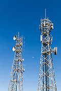Antennas for radio and microwave  systems on two lattice tower in Queensland, Australia. <br />