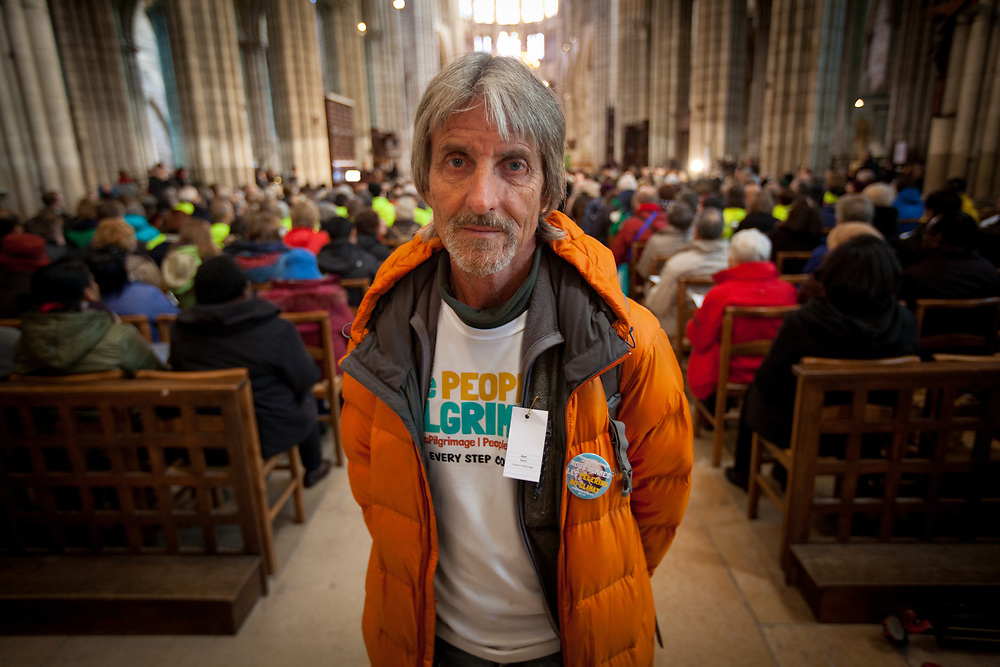 Alan Burns took part in the People's Pilgrimage, walking across the Philippines, and from Rome to Paris.