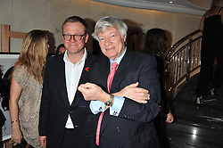 Left to right, JASON McCUE and GEOFFREY ROBERTSON QC at The Great Initiative event in association with jewellers Boodles held at The Corinthia Hotel, London on 6th November 2012.